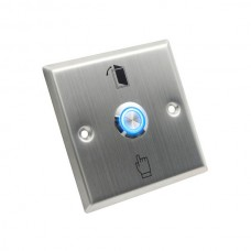 STAINLESS STEEL EXIT SWITCH SQUARE - NO/COM & LED